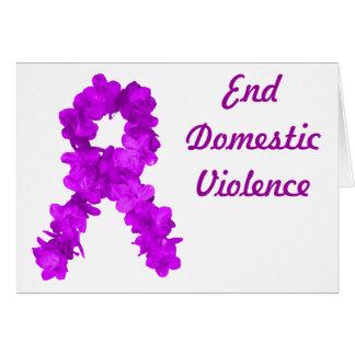 Purple Flower Awareness Ribbon Card
