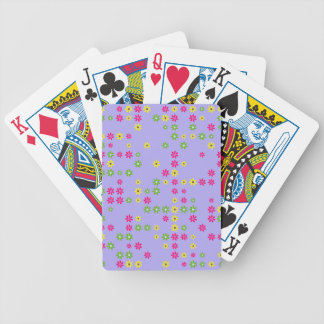 Purple Flower Confetti Bicycle Playing Cards