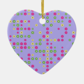 Purple Flower Confetti Christmas Ornament