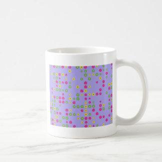 Purple Flower Confetti Coffee Mug