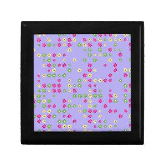 Purple Flower Confetti Gift Box