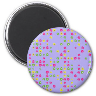 Purple Flower Confetti Magnet