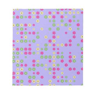 Purple Flower Confetti Notepad