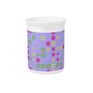 Purple Flower Confetti Pitcher