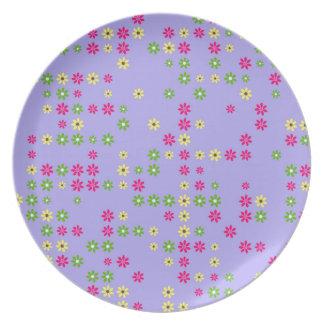 Purple Flower Confetti Plate