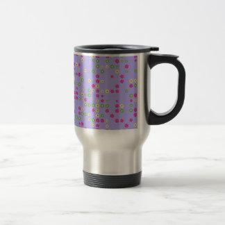 Purple Flower Confetti Travel Mug