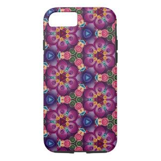 Purple Flower Kaleidoscope Art Modern Abstract iPhone 8/7 Case