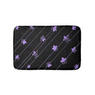 Purple Flower Pattern bath mat Bath Mats