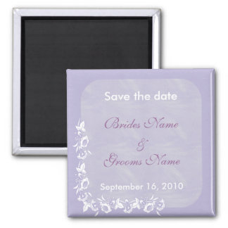 Purple Flower Wave Save the Date Magnet