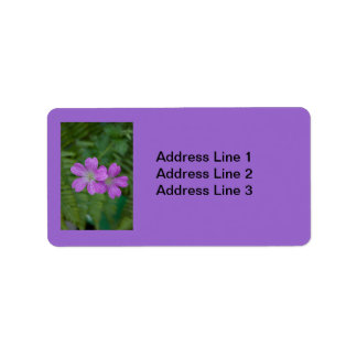 Purple Flowers Label