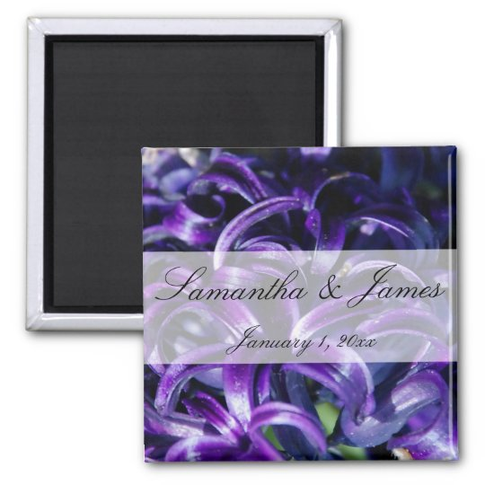 Purple Flowers Personal Wedding Magnet
