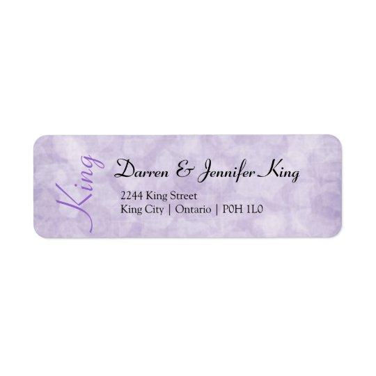 Purple Flowers Return Address Label - Customise