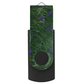 Purple Flowers USB Flash Drive