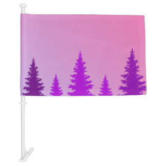 Purple Forest Car Flag