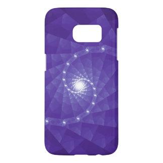 Purple Fractal Geometric Art Smartphone Case