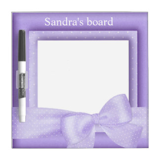 Purple Frame Dry Erase Board