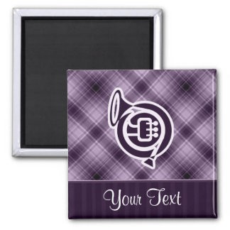 Purple French Horn Refrigerator Magnet