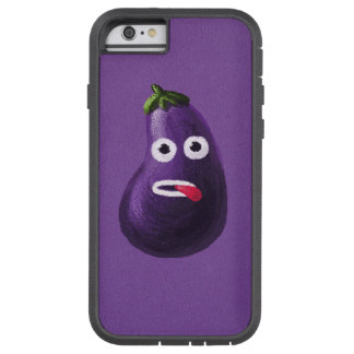 Purple Funny Cartoon Eggplant Protective Tough Xtreme iPhone 6 Case