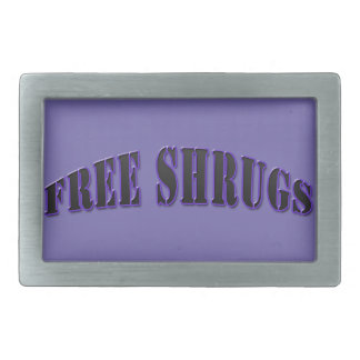 Purple Funny Free shrugs Belt Buckle