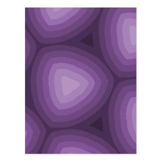 Purple Geometric Patterns | New Address Postcard