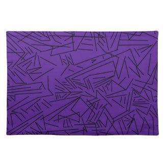 Purple Geometric Placemats