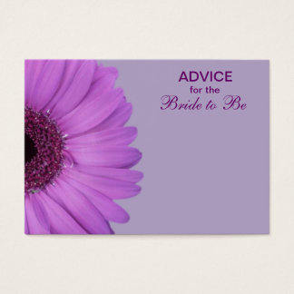 Purple Gerber Daisy Advice for the Bride Business Card