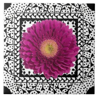 Purple Gerbera Daisy Tile