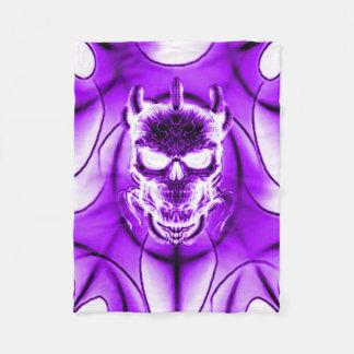 Purple Ghost Skull Fleece Blanket
