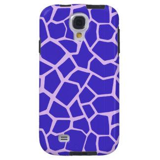 Purple Giraffe Print Galaxy S4 Case