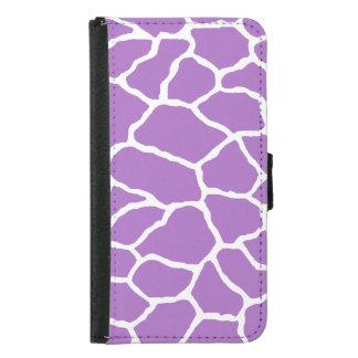 Purple Giraffe Print Galaxy S5 Wallet Case