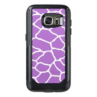 Purple Giraffe Print OtterBox Galaxy S7 Case