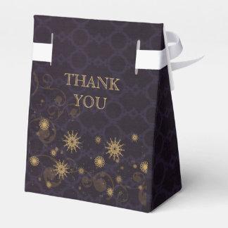 purple gold Snowflakes Winter wedding favor box Party Favour Boxes
