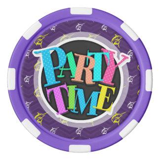Purple, Gold Yellow, White, Offshore Fishing Poker Chips Set
