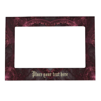 Purple Gothic Heart 001 Magnetic Picture Frame
