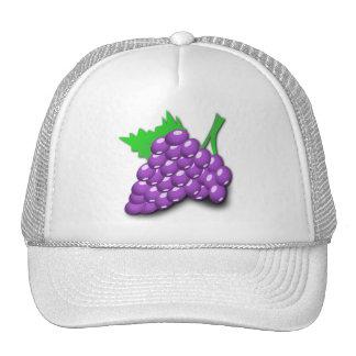 Purple Grape Cluster Trucker Hats