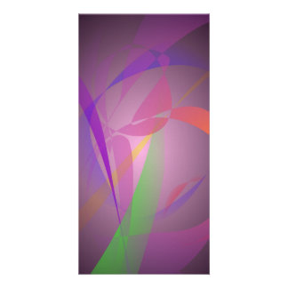 Purple Gray Gentle Abstract Design Photo Greeting Card