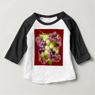 PURPLE & GREEN GRAPES VINEYARD  BURGUNDY WINE  art Baby T-Shirt
