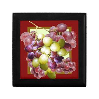PURPLE & GREEN GRAPES VINEYARD  BURGUNDY WINE  art Gift Box