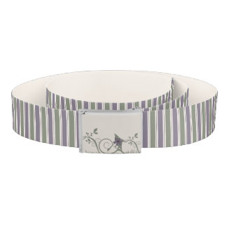 Purple & Green Stripes Belt
