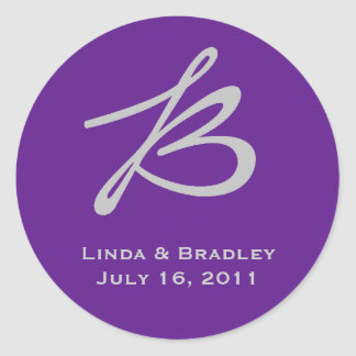 Purple & Grey Circle Sticker