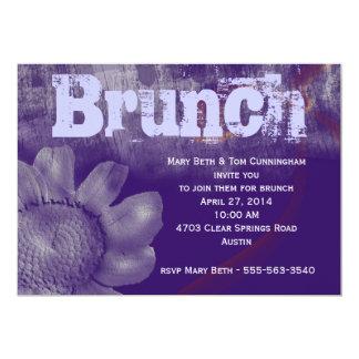 Purple Grunge Brunch Party 13 Cm X 18 Cm Invitation Card