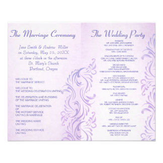 Purple grunge Wedding programs 11.5 Cm X 14 Cm Flyer