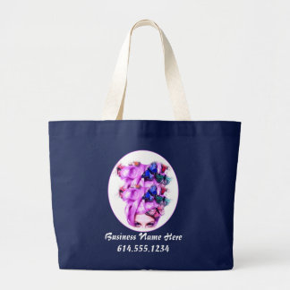 Purple Hair Butterfly Lady Tote Bag 2
