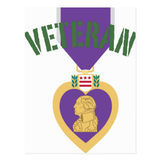 Purple Heart Veteran Postcard