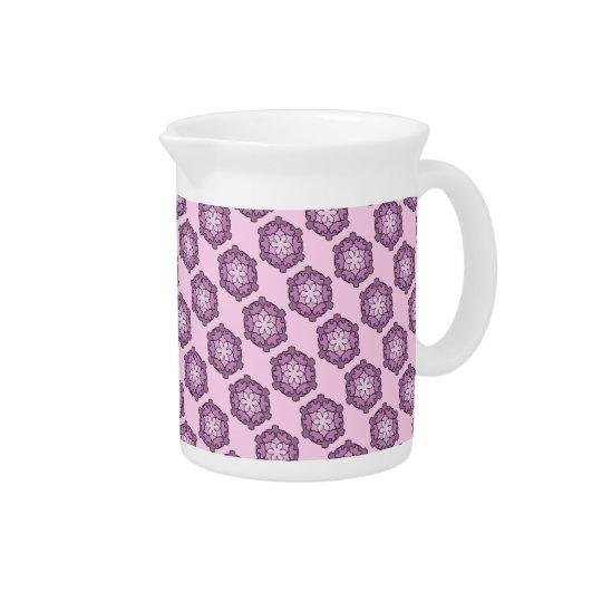 Purple Honeycomb Beverage Pitcher