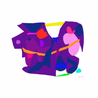 Purple Horse Photo Cut Out
