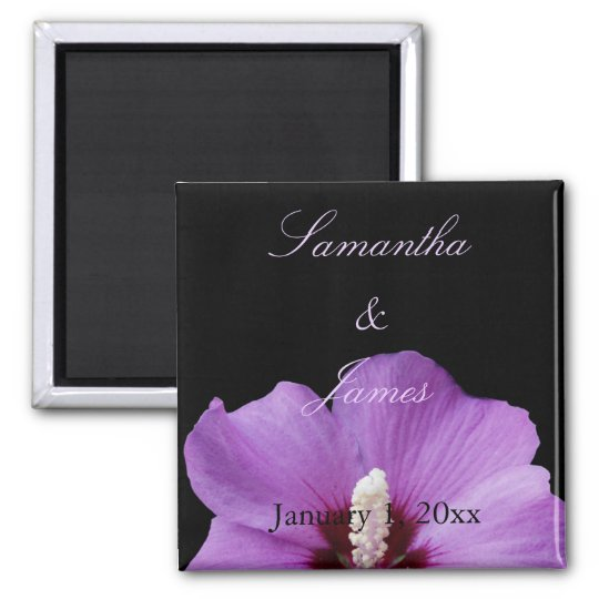Purple Hydrangea Personal Wedding Magnet