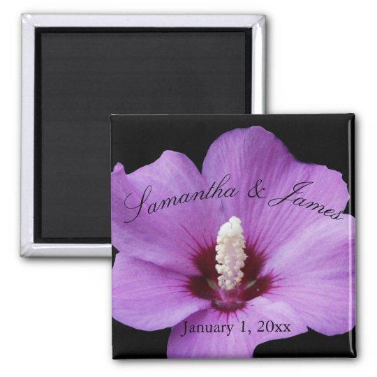 Purple Hydrangea Up Close Wedding Magnet