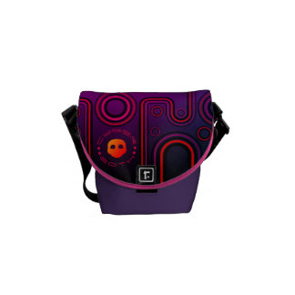 Purple Industrial Cyber Goth Robot Futuristic Commuter Bag