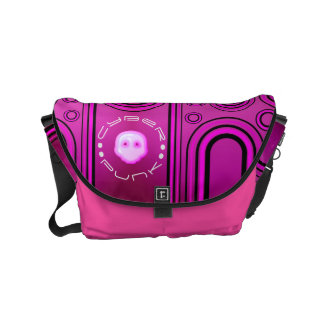 Purple Industrial Cyber Punk Robot Futuristic Commuter Bag